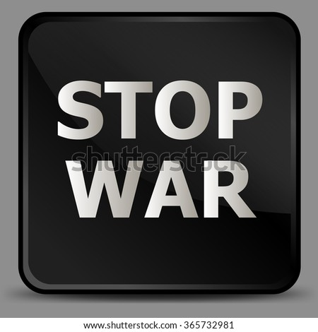 Vecor Poster Icon Stop War
