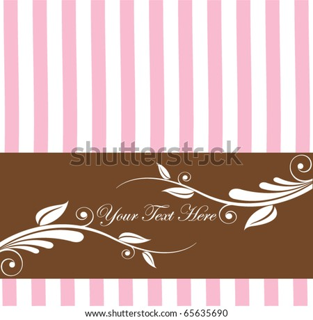 Vecter Retro floral background - stock vector
