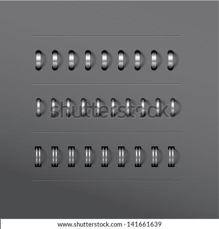 Vecto set of various notebook spiral designs - stock vector