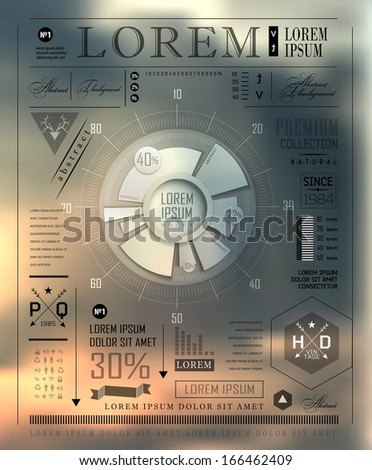 Vecto Set   transparent and shadows plat icon and elements  for infographics. Modern elements of info graphics. Information Graphics. - stock vector