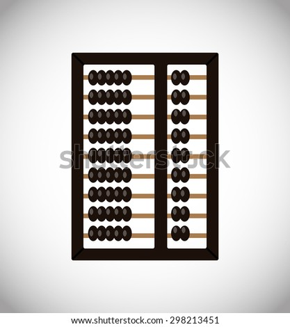 Vector abacus icon - stock vector