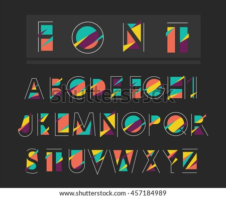 Vector abstract alphabet - stock vector