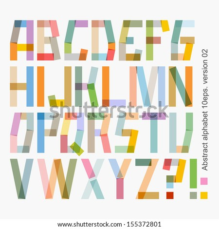 Vector abstract alphabet , version 02 ( 10eps ) - stock vector