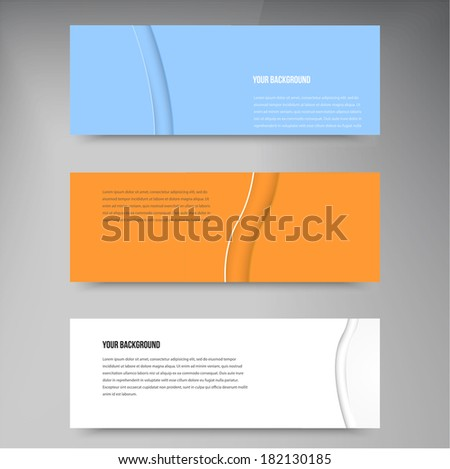 Vector abstract background  and wave. Web design