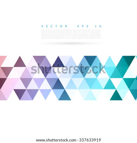 Vector Abstract background. blue triangular shapes. Triangles - stock vector