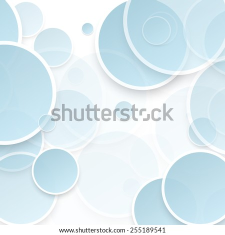 Vector abstract background. Circles and blue bubble - stock vector