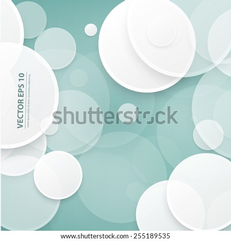 Vector abstract background. Circles and white bubble - stock vector