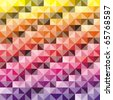 VECTOR - Abstract background - Combination of triangle and square - 512 Colors used in attractive gradual method - stock