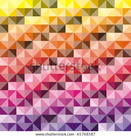 VECTOR - Abstract background - Combination of triangle and square - 512 Colors used in attractive gradual method - stock vector
