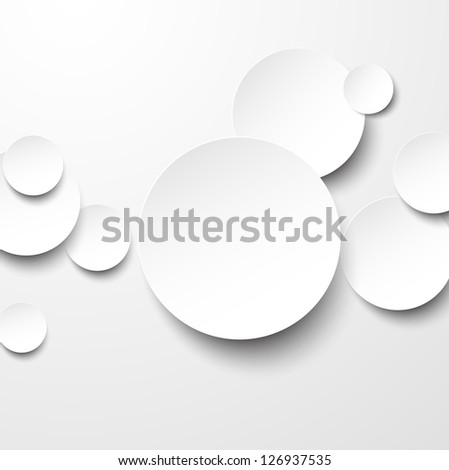 Vector abstract background composed of white paper round notes. Eps10. - stock vector