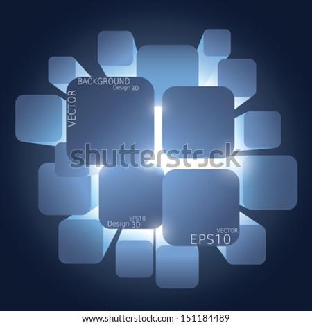 Vector Abstract Background dark - stock vector