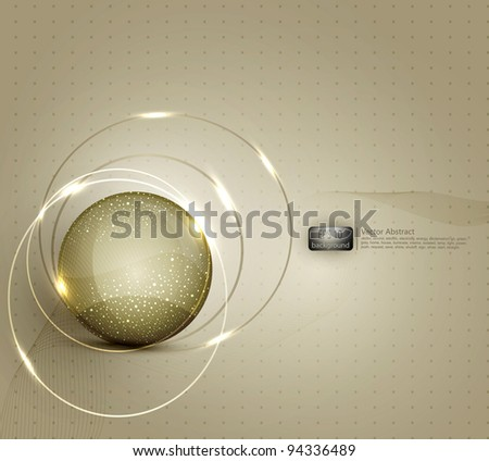 vector abstract background for a business with a glass ball - stock vector