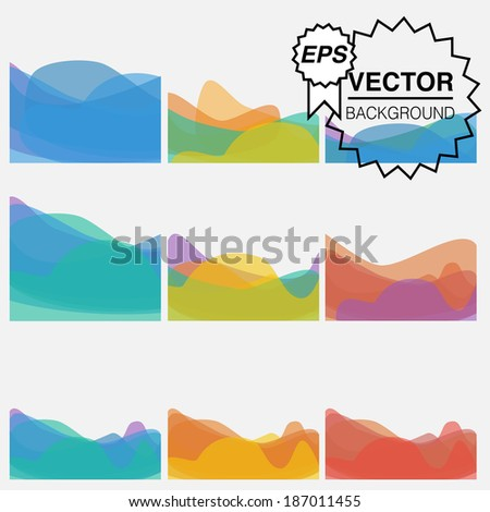 Vector abstract background for designers - stock vector