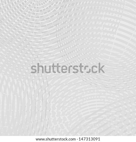 Vector abstract background - geometric gray ornament with circles - stock vector