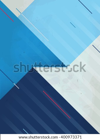 Vector abstract background. Grunge texture. Triangle geometric pattern. Creative sport blue illustration EPS. - stock vector
