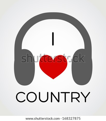 I Love Country Music Wallpaper Stock Images, R...