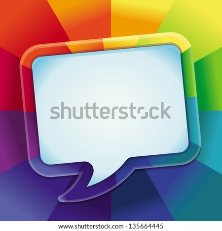 Vector abstract background in rainbow colours with copy space for text - design template - stock vector