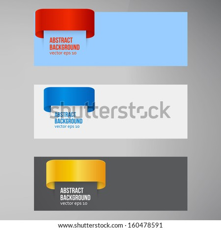 Vector abstract background. Label color and lines