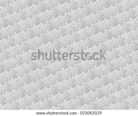 Vector Abstract background made from white puzzle pieces (jigsaw pattern) - stock vector