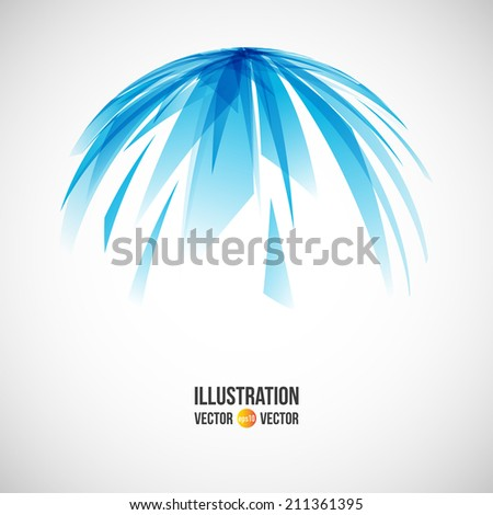 Vector abstract background of blue fragments. Illustration of triangles - stock vector