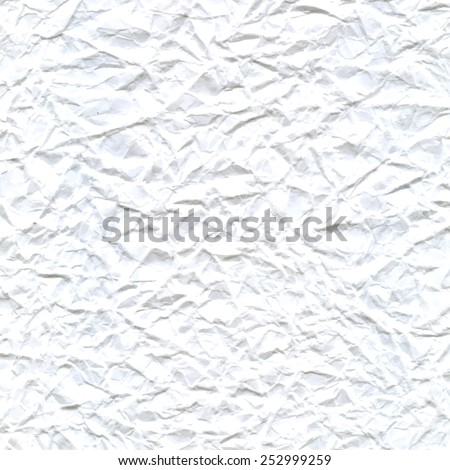 Vector abstract background of white crumpled paper. Creased paper texture with blank space for text message. EPS10 vector wallpaper. - stock vector