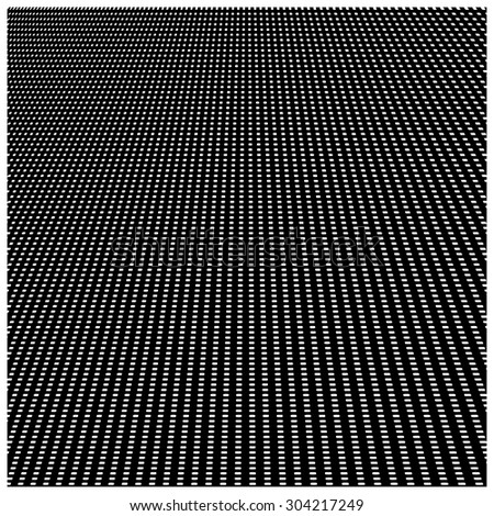 Vector abstract background of white square pattern on black background with perspective view - stock vector