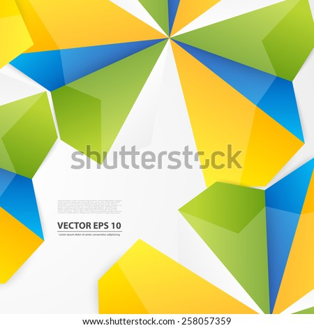 Vector abstract background. Origami and paper geometric - stock vector