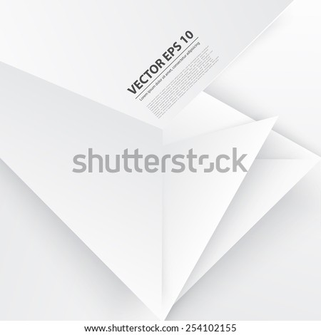 Vector abstract background. Origami and polygon geometric - stock vector