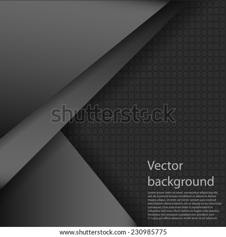 Vector abstract background. Overlap dimension modern line bar design for text and message. Template design. Vector illustration. - stock vector