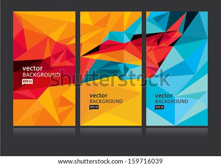Vector abstract background set EPS 10 - stock vector