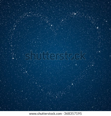 Vector abstract background. Star heart. I love you. Valentine's Day.