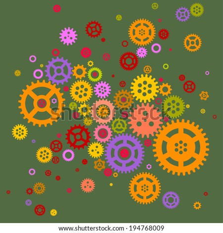 vector abstract background - technology (gears) - stock vector