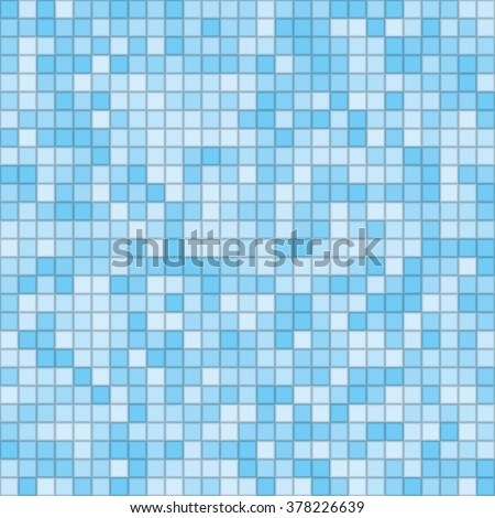 Vector abstract background. Tiled blue mosaic. Eps 10.