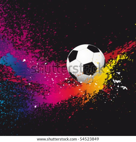 Vector Abstract background with a soccer ball. - stock vector