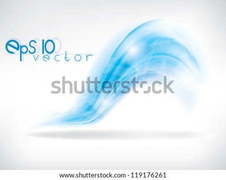 Vector abstract background with blue waves and lines
