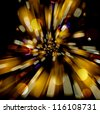 Vector abstract background with blurred defocused lights. - stock vector
