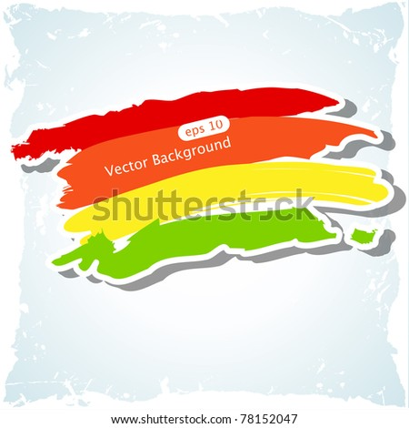 Vector abstract background with brush strokes - stock vector