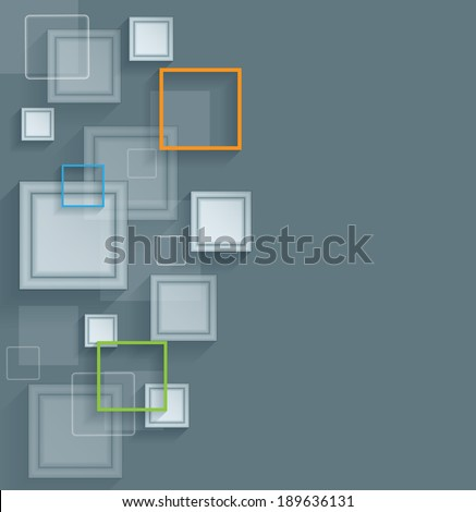 Vector abstract background with colorful layers. Eps10 - stock vector
