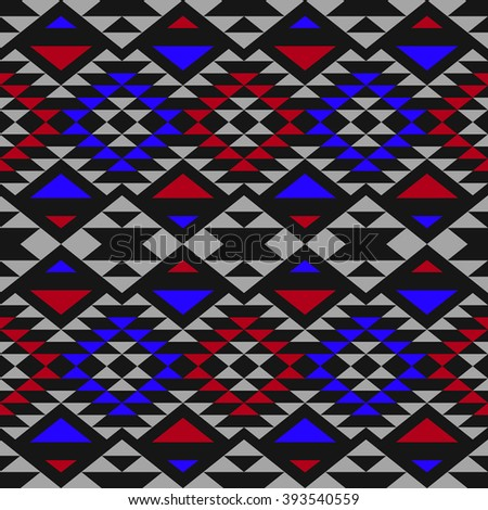 Vector abstract background with ethnic aztec ornament. Abstract boho chic style wallpaper.