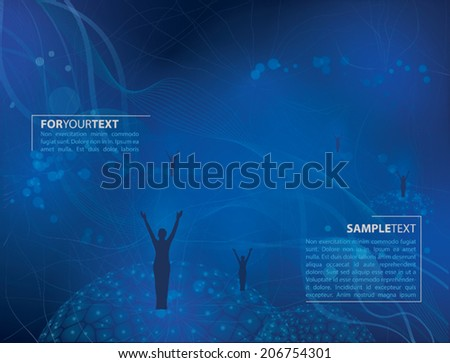 VECTOR ABSTRACT BACKGROUND WITH PEOPLE - stock vector