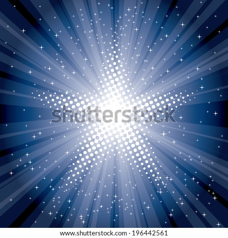 vector abstract background with starburst - stock vector