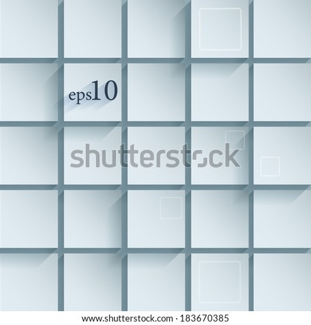 Vector abstract background with tiles. Eps10