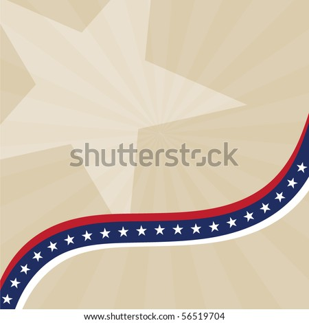 Vector abstract background with USA flag theme - stock vector
