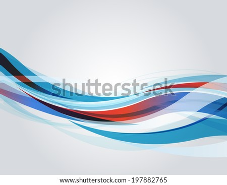 vector abstract background with waves - stock vector