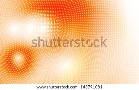 vector abstract background; with yellow grid - stock vector