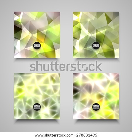 Vector abstract backgrounds collection. Set of geometric polygonal illustrations. High quality design elements. Eps10
