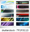 Vector abstract banners for web header (mega set) - stock vector