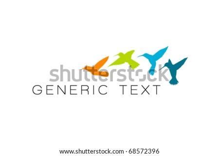 Vector Abstract Bird Design - stock vector
