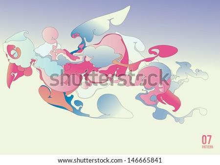 vector abstract bird in the sky - stock vector
