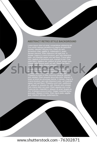 Vector Abstract Black and White Retro Style Background - stock vector